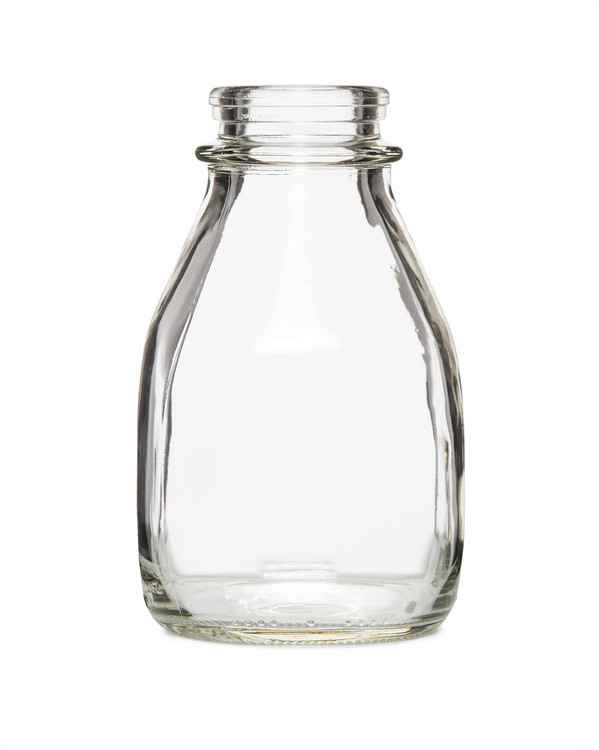 Small Clear Glass Pint Milk Bottle