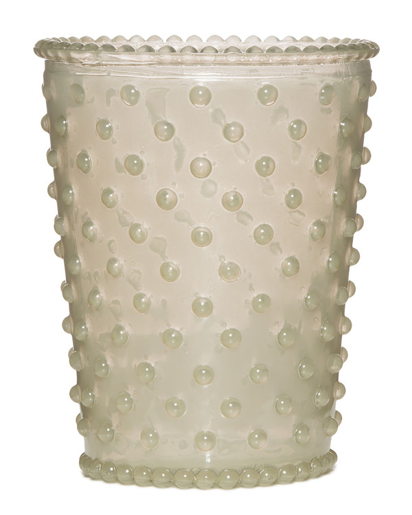 No. 42 White Flower Empty Hobnail Glass