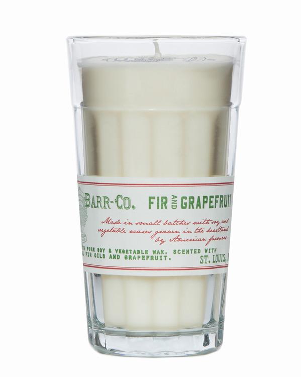 Fir & Grapefruit Parfait Glass Candle