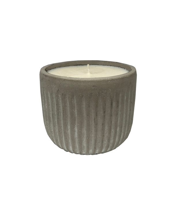 Grooved Cement Citronella  Outdoor Candle