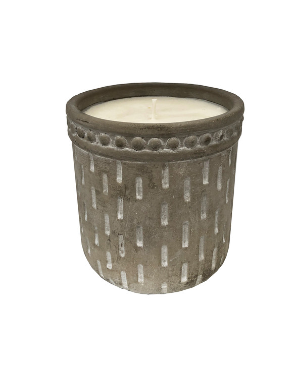 Embellished Garden Cement Citronella  Outdoor Candle