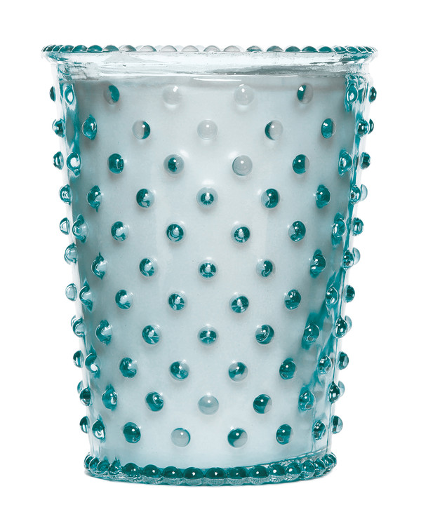 No. 77 Rain Hobnail Glass Candle