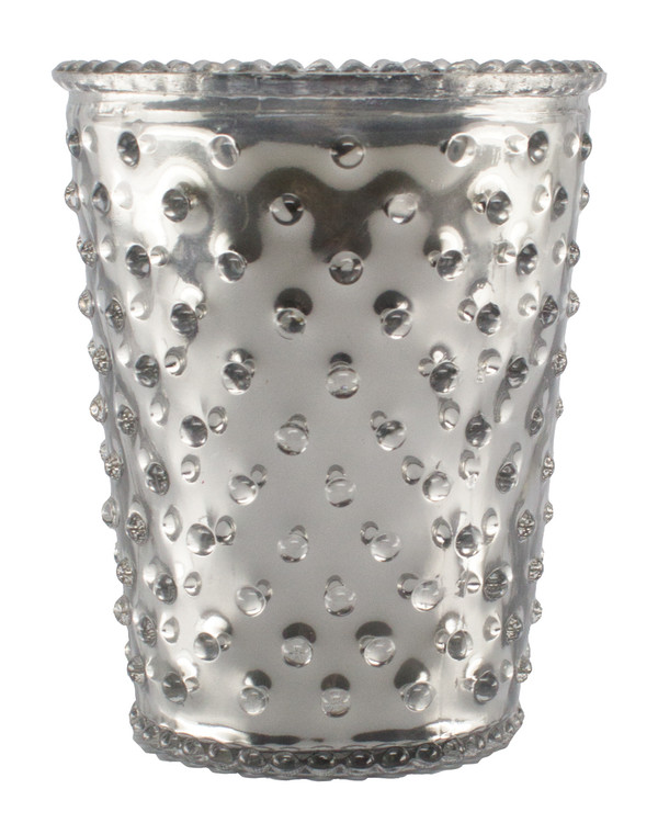No. 53 Limited Edition Vanilla Bean Metallic Empty Hobnail Glass