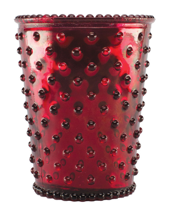 No. 52 Limited Edition Reindeer Metallic Empty Hobnail Glass