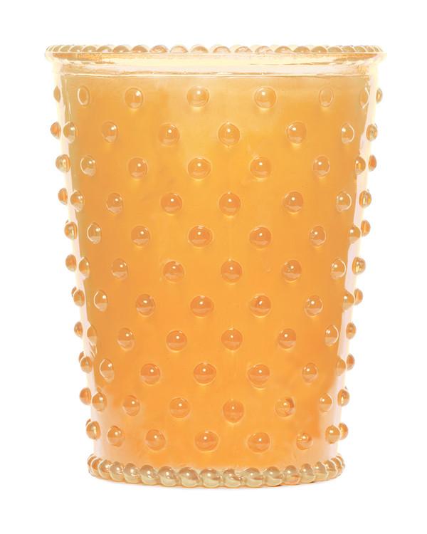 No. 87 Orange Blossom Hobnail Glass Candle