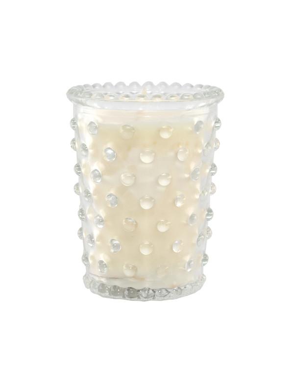 Scotch Pine Hobnail Glass Votive Candle