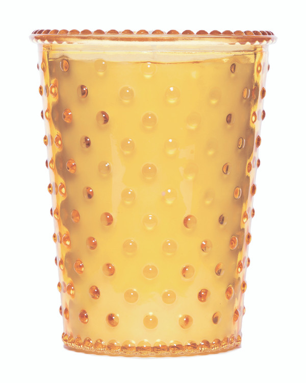 No. 84 Quince Hobnail Glass Candle