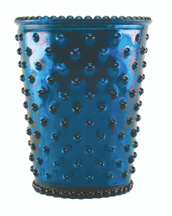 No. 66 Winter Frost Hobnail Glass Candle