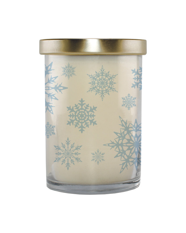 Snowflake 12 oz Holiday Screen Print Candle
