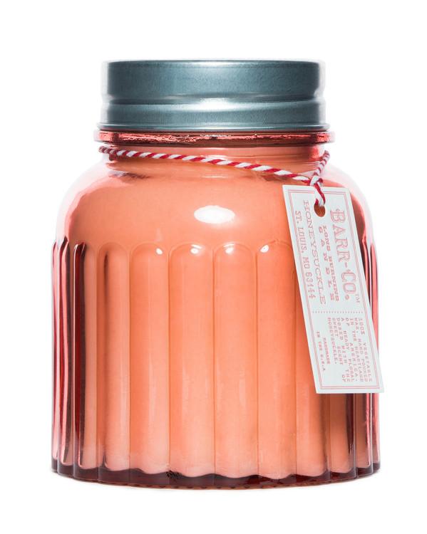 Honeysuckle Apothecary Jar Candle