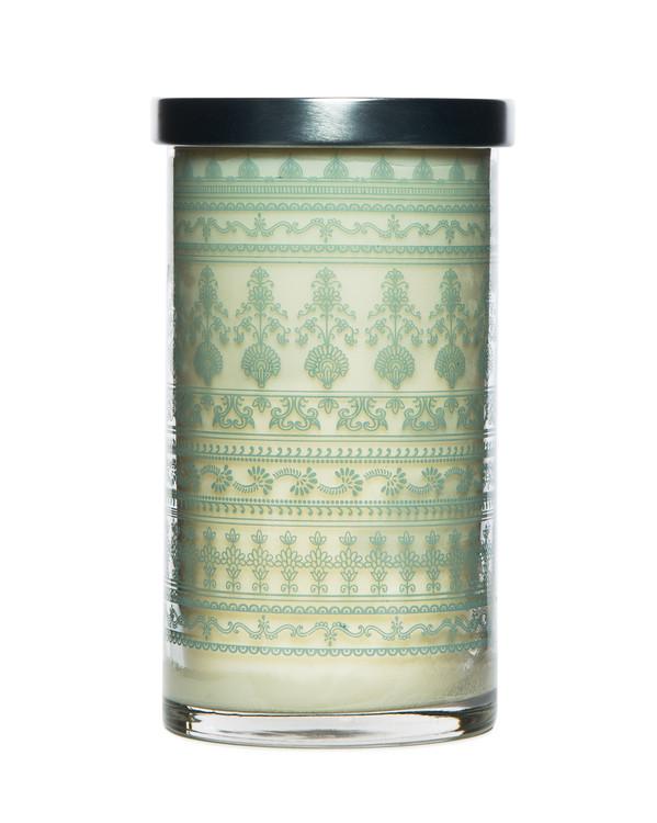 Egyptian Jasmine Printed Glass Candle