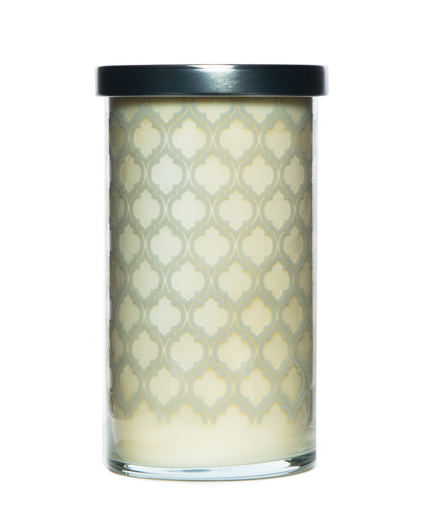 Milk Printed Glass Candle