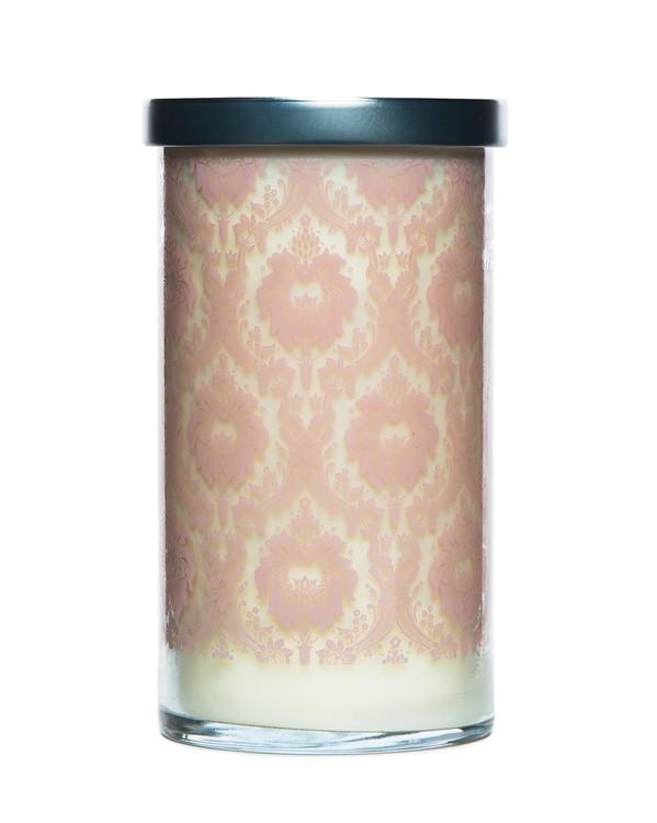 Peony Printed Glass Candle