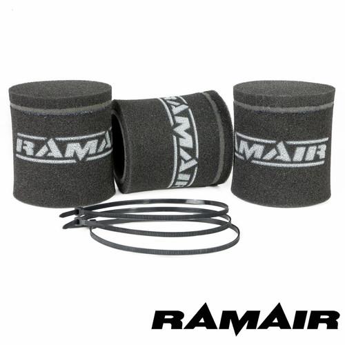 MS-002X3 - 3 x Single Carb Sock Foam Air Filters 102mm