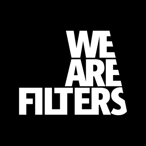 White 'We Are Filters' Stickers - 2 Quantity