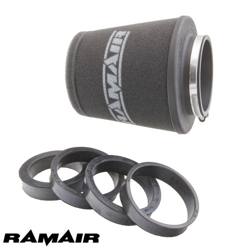 CC-501-UNI - 70mm 76mm 80mm 85mm 90mm ID Neck - Polymer Base Neck Cone Air Filter - Universal