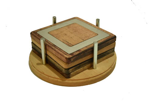 Modern and Rustic Style Mixed Coaster Set