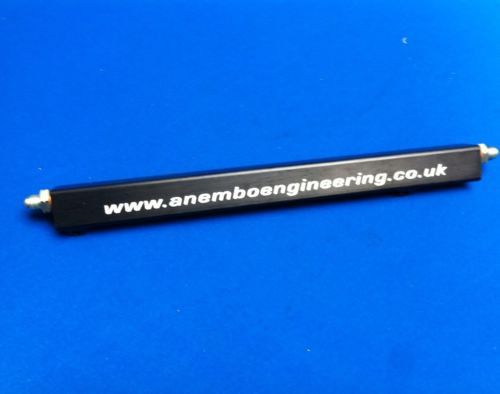 Billet Aluminium Fuel Rail For 4x4 Cosworth YB Anodised in Black with Fittings