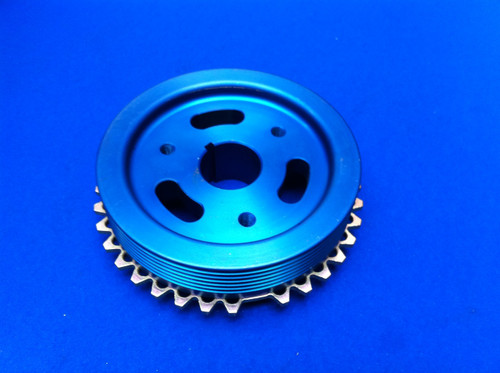 Billet Aluminium Cosworth Crank Pulley 36-1 One Multi V Belt