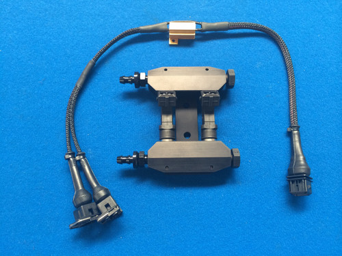 Escort/Sierra Cosworth Air injectors in Black ,boost control with Anodised Hosetail Fittings