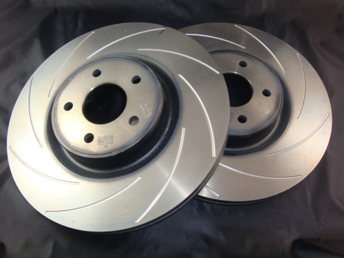 Focus RS Mk2 Front Brake Disc Set K Sport Style Grooves (pair)