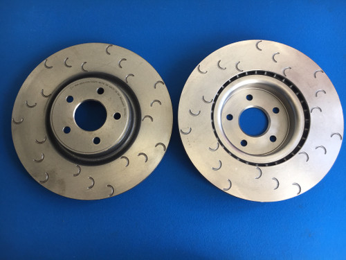 Focus RS Mk2 Front Brake Disc Set Mountune Style C Groove (pair)