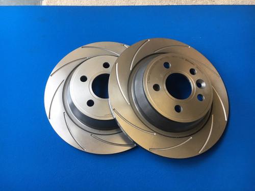 Focus RS Mk2 Rear Brake Disc Set K Sport Style Grooves (pair)
