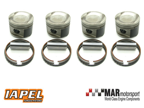 Cosworth YB 0.5mm IAPEL Set of 4 Forged Pistons - Rings & Pins & Valve Cutouts