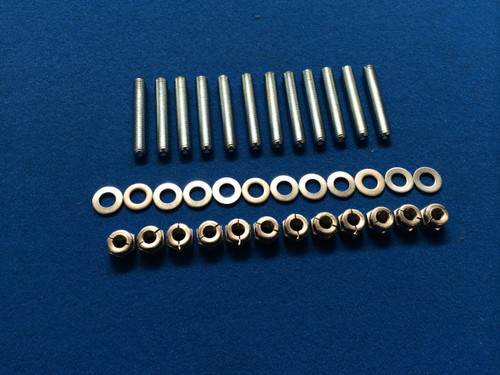 Focus MK2 RS/ST M8 Stainless Steel Exhaust Stud and Nut kit / Allen Key Inserts