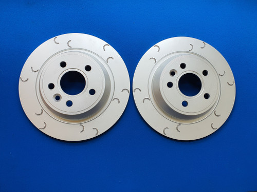 Ford Focus RS Mk2 Rear Brake Discs C Groove Style