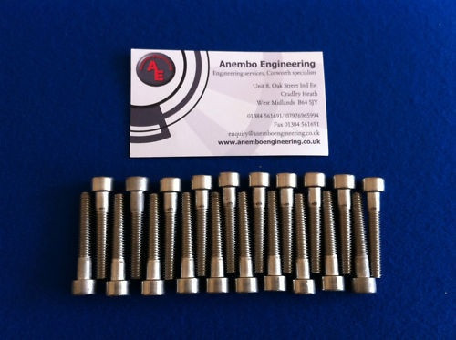 RS Cosworth Stainless Steel Cam Cover Bolts x 20