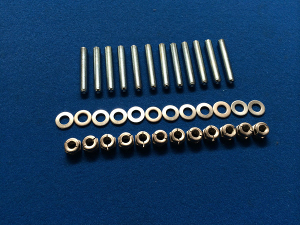 Focus MK2 RS/ST M8 High Tensile Steel Exhaust Stud and Nut kit / Allen Key Inserts