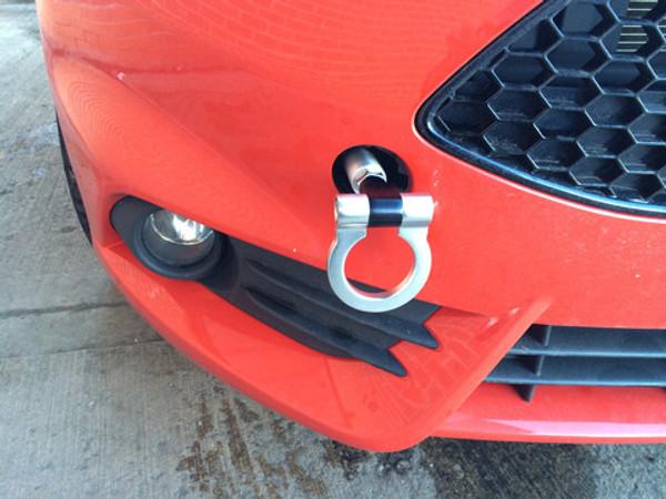 Fiesta Mk7 Aluminum Racing Silver Sport Tow Hook Ring Kit