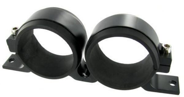Twin Fuel Pump Mount Bosch 044 Walbro Sytec Facet - Black