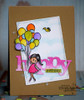 Card made by Deepti using Girl and balloons digital stamp