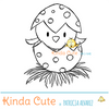 Easter bird digital stamp, it can be use for baby cards.