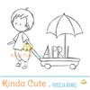Digital stamp for April planner