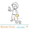 Boy with animals digital stamp.