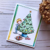Card made using decorating the tree digital stamp