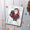 Card made by Patricia Alvarez using Santa Claus with presents clear stamp.