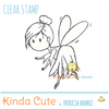 Cute fairy clear stamp.