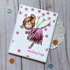Card using fairy flying
