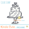 Wedding cake clear stamp. Perfect for wedding stationery or birthday cards.