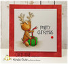 Card made by Christine using Reindeer with a present digital stamp