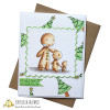 Christmas card using Gingerbread family digital stamp