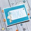 Hugs card using dog digital stamp set.