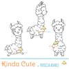 Llama digital stamp set