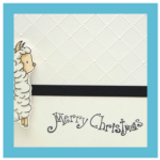 Embossed and Simple Christmas Card | Showcasing Llama Digital Stamp Set