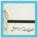 Embossed and Simple Christmas Card | Showcasing Llama Digital Stamp Set