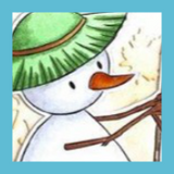 Fall Embossed Card with Snowmen | Showcasing Snowman with Leaf Rake